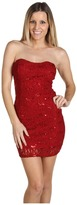 Type Z Hafwen Sparkle Strapless Dress (Red) - Apparel