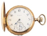 Elgin 14K Yellow Gold 17-Jewel Double Hunter Pocket Watch