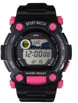 QIIN Multifunctional Digital Pink Boys and Girls Sport Watches