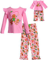 Dollie & Me Pink Gingerbread Pajama Set & Doll Outfit - Girls