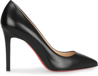Christian Louboutin Pigalle 100 black leather pump