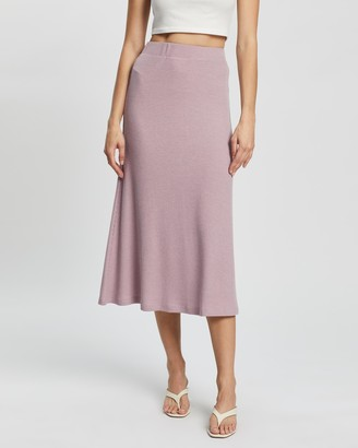 Atmos & Here Atmos&Here - Women's Purple Midi Skirts - Sadie Knit Skirt - Size 16 at The Iconic