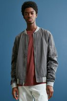 Urban Outfitters Tencel Ruched Sleeve Bomber Jacket