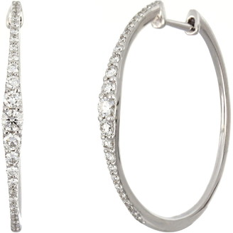 Bony Levy Liora Graduated Diamond Hoop Earrings