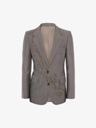 Alexander McQueen Floral Garland Embroidered Jacket