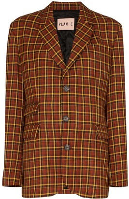 Plan C Oversized Check Blazer