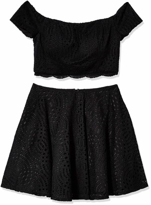 My Michelle Women's Two Piece Set with Off The Shoulder Top and Skirt