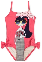 Little Marc Jacobs Girl's Miss Marc One Piece Swimsuit