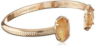Kendra Scott Signature Elton Rose Gold Plated Brown Mother-of-Pearl Cuff Bracelet
