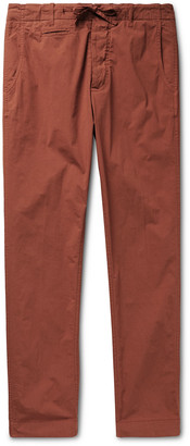 MAN 1924 - Tomi Tapered Stretch-Cotton Drawstring Suit Trousers - Men - Red