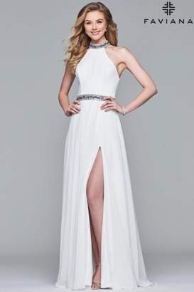 Faviana High Neck Gown