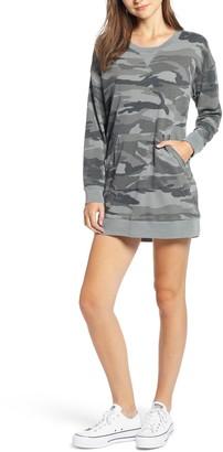 Splendid Active Sweatshirt Camo Dress