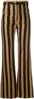 Nina Ricci striped flared trousers - women - Cotton - 34