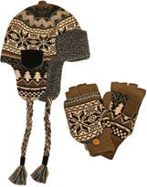 Muk Luks 2-pc. Nordic Trapper Hat and Flip Gloves Set