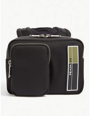 Prada Rubberised-logo shell backpack