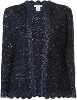 Oscar de la Renta embroidered jacket - women - Silk/Polyester/Wool - S
