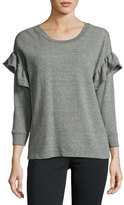 Current/Elliott The Ruffle Sweatshirt, Gray