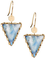 Lana 14k Mesmerize Triad Moonstone Drop Earrings