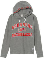 PINK University Of Arkansas Crossover Pullover Hoodie