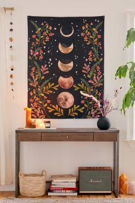 Urban Outfitters Moonlight Tapestry - Black ALL at