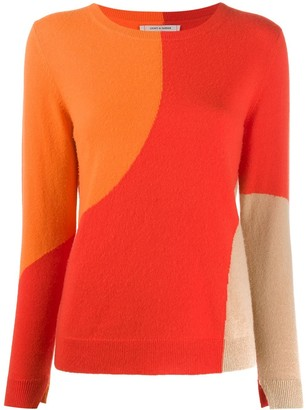 Chinti and Parker Panelled Crew-Neck Pullover