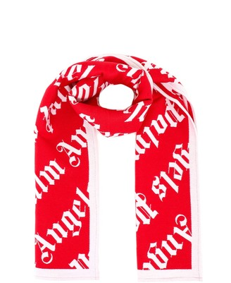 Palm Angels All Over Logo Scarf