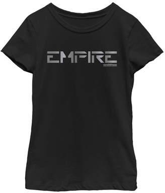 Star Wars Big Girls Jedi Fallen Order Empire Text Short Sleeve T-Shirt