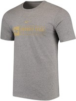 Nike Men's Heathered Gray Georgia Tech Yellow Jackets Sport Drop Basketball T-Shirt