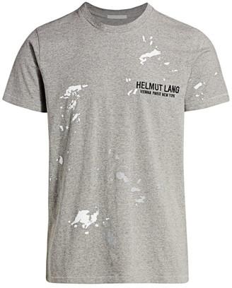 Helmut Lang Standard-Fit Splatter-Print Cotton Tee