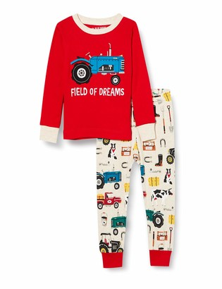 Hatley Little Blue House Boy's Long Sleeve Applique Pajama Set