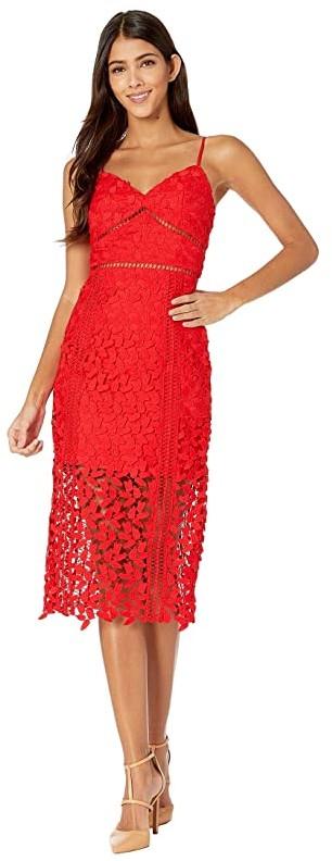Bardot Roxy Lace Dress (Lipstick Red) Women's Dress