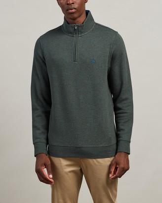 Brooks Brothers Cotton Terry Half-Zip Sweater
