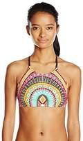 Body Glove Women's Culture Elena High Neck Cropped Bikini Top