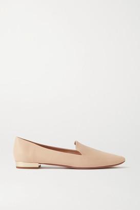 Aquazzura Greenwich 10 Leather Loafers - Off-white