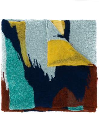 Missoni knitted colour block scarf