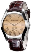 Emporio Armani Men's AR0645 Classic Leather Roman Numeral Dial Watch