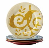 Rachael Ray Gold Scroll 4-pc. Assorted Round Appetizer Plate Set