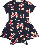 fiveloaves twofish Hibiscus-Print Jersey Dress & Bloomers Set-NAVY