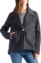 Laundry by Shelli Segal Charcoal Single-Button Wool-Blend Jacket