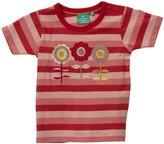Little Green Radicals Applique Tee (Toddler/Kids) - Flowers-3-4 Years