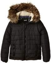 Schott NYC Boy's ROCKY2B Plain Hooded Long Sleeve Jacket