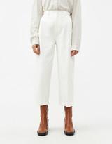 Amomento Women's Garconne Pant In White, Size 1 | 100% Cotton