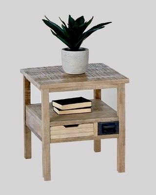 Gracie Oaks Bolckow 2 Drawer End Table