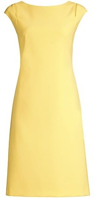 HUGO BOSS Dileky Shoulder Cutout Ponte Shift Dress