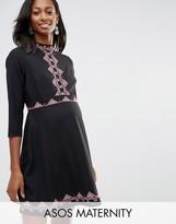 Asos Skater Dress with Pretty Folk Embroidery