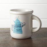Crate & Barrel Motivation Coffee Mug