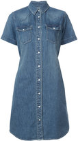 Sacai belted denim shirt dress - women - Cotton - 2