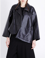 Comme des Garcons Asymmetric faux-leather jacket