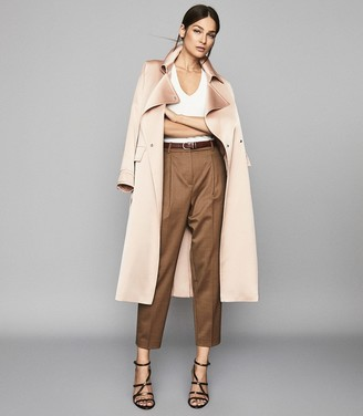 Reiss Quinne - Boyfriend Tapered Trousers in Camel