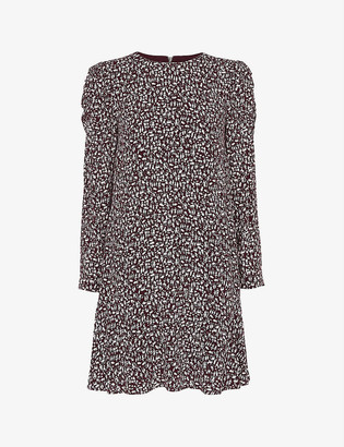 Whistles Georgina people-print cotton dress